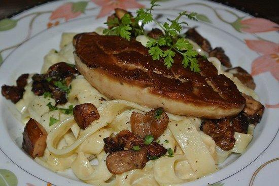Restaurant La Bécassière : Tagliatelles au foie gras