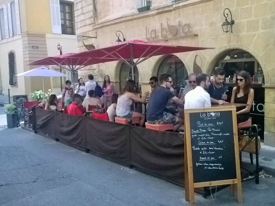 La Bota during lunch time in August 2014