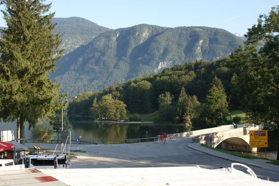 Jezero Hotel: View of Bohinj lake from balcony of our room