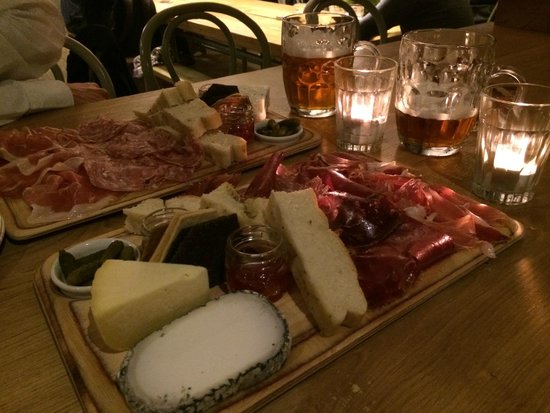 Friends of Ham: 2 meats and 2 cheese boards - amazing!