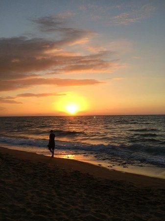 Hotel Rethymnon Mare : Sunset on the beach