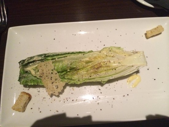 Vince Young Steakhouse: Grilled Caesar salad- just say no