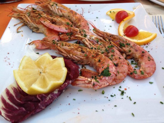 Ristorante Pizzeria Capri: Grilled king prawns