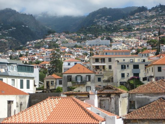 Porto Santa Maria Hotel : View of Funchal from the 3rd floor terrace