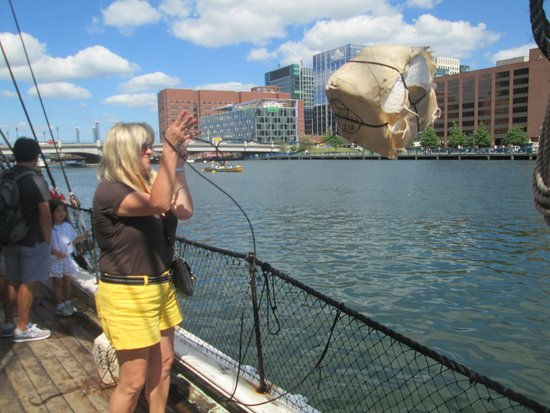 Boston Tea Party Ships & Museum: throw it in