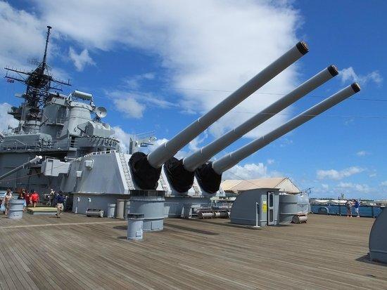 """Battleship Missouri Memorial: 16"""" Guns..!"""