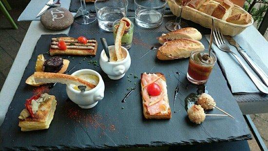 Bodega Koko : Grande assiette de tapas. Fraîcheur et saveur au rendez vous