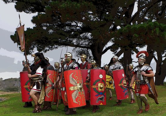 Segontium Roman Fort: marching