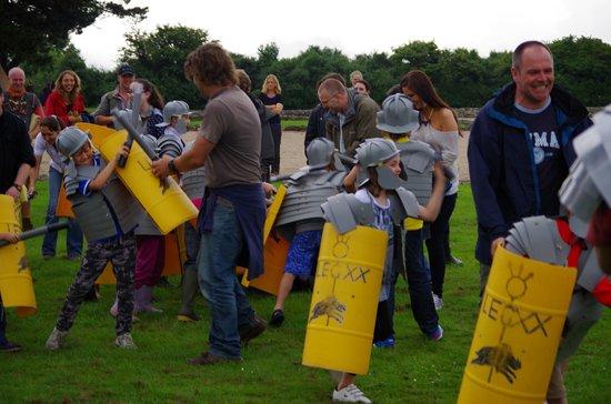 Segontium Roman Fort: kids army
