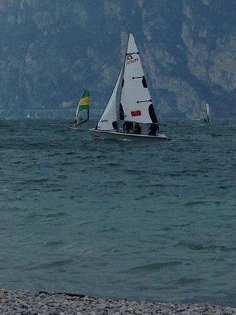 Surf Segnana: Lots of wind today at the Garda lake