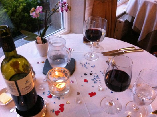 The Borrowdale Gates Hotel: Our anniversary table
