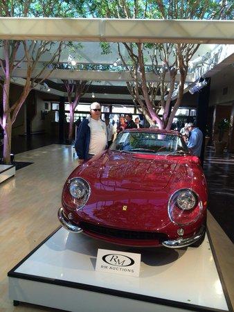 Portola Hotel & Spa at Monterey Bay: Steve McQueens Ferrari in lobby