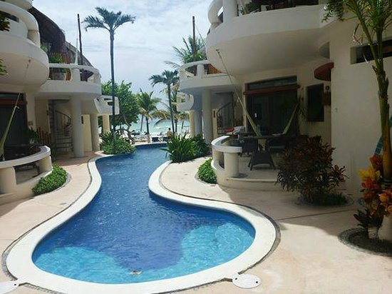 Playa Palms Beach Hotel : pool and garden