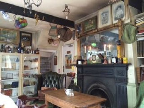 Ambledown Tea Rooms: The main tea room filled with antiques and vintage items!