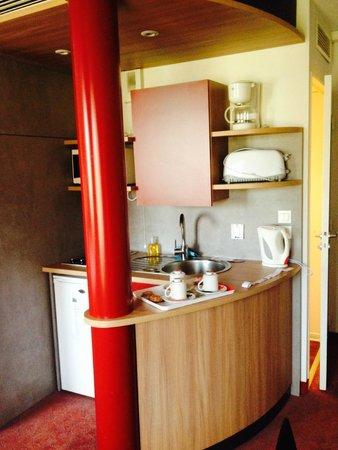 Suite-Home Orleans : coin cuisine