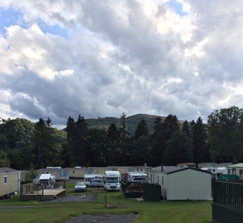 Faskally Caravan Park : Before the rain!