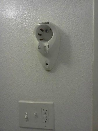 Hollywood Liberty Hotel: This is where you would plug in your hotel hairdryer, should you have one.