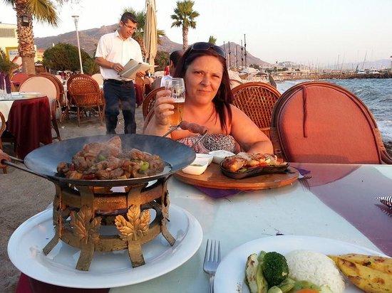 La Villa Restaurant: our meal while the sun set