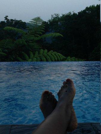 Nyungwe Forest Lodge : la piscine à débordement