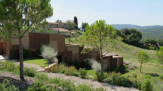 Castello di Casole Private Estate & Spa: View of some of the new constructions, cool & modern