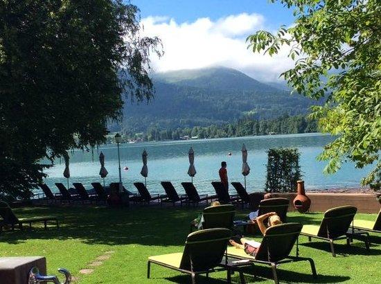 Hotel Cortisen am See: Wolfgansee-beach area