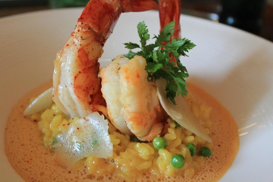 Le Tilleul : Risotto with Gambas
