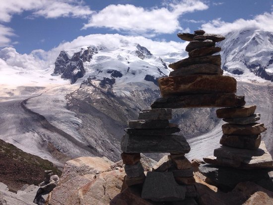 Gornergrat Bahn: The trail behind the main viewing platform is well worth checking out.