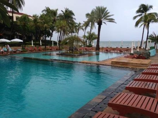 View of the pool and ocean at Dusit Thani Hua Hin Hotel