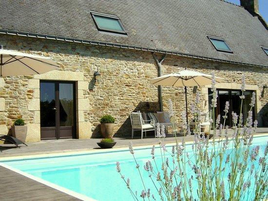 La Longere, Luxury b&b: Poolside