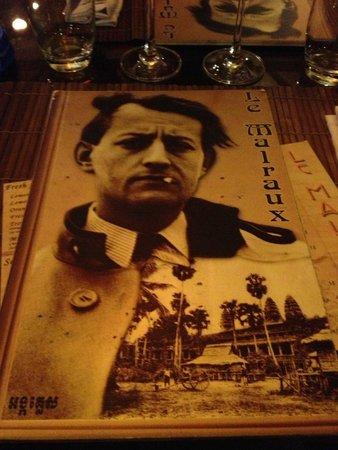 Le Malraux: la carte du restaurant