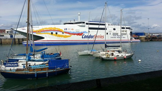The Anchorage: The condor ferry to Jersey.