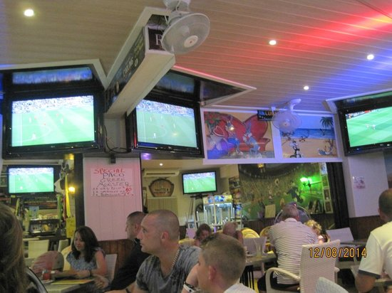 Paco's Bar Funny Bunny's: more TV's than Dixons