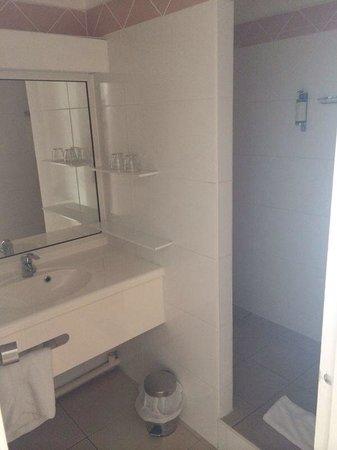 Hotel La Pagerie: La salle de douche (propre)
