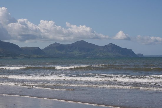 View from Dinas Dinlle beach