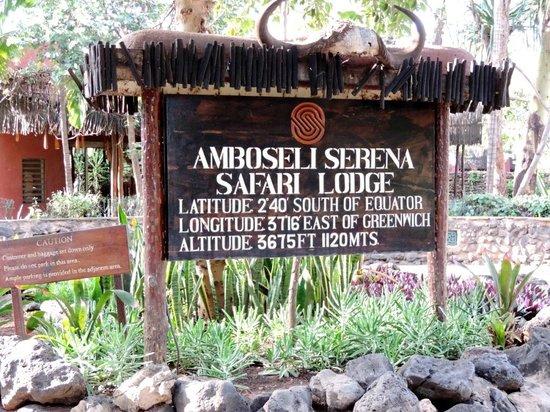 Amboseli Serena Safari Lodge : Визитная карточка отеля