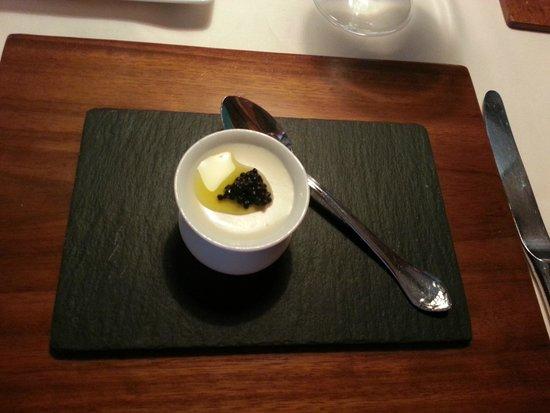 El Ermitaño: Aperitivo de crema de queso