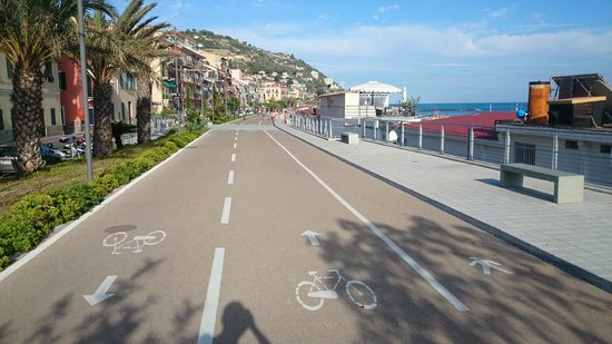 Pista Ciclabile Area 24 - Sanremo: End point