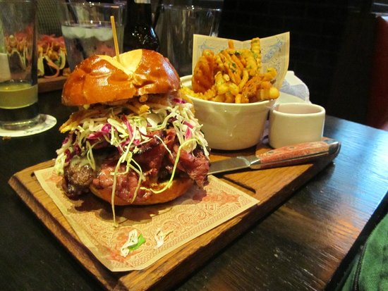 Mayor of Flavourtown Burger and Fries - Picture of Guy Fieri\'s ...