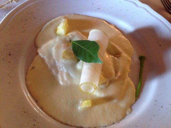 La Botte di Bacco : Ravioli spinaci, pecorino e pere?