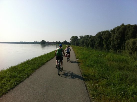 Donauradweg: Cycling towards Melk