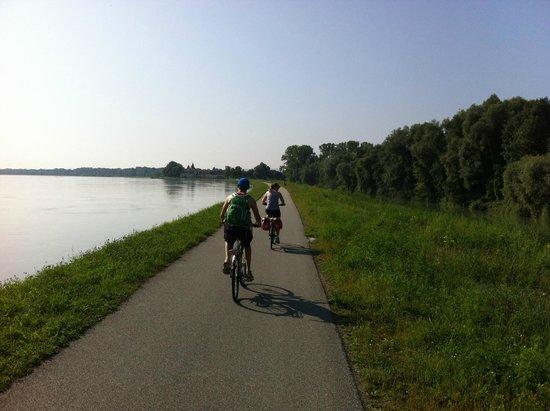 Donau Cycle Path: Cycling towards Melk