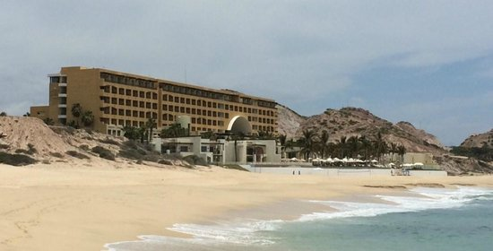 Marquis Los Cabos All-Inclusive Resort & Spa: iPhone photo from the beach, looking North at our resort