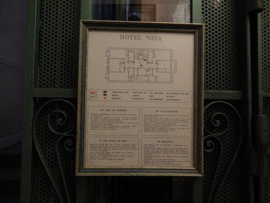 Hotel Niza: Floor map