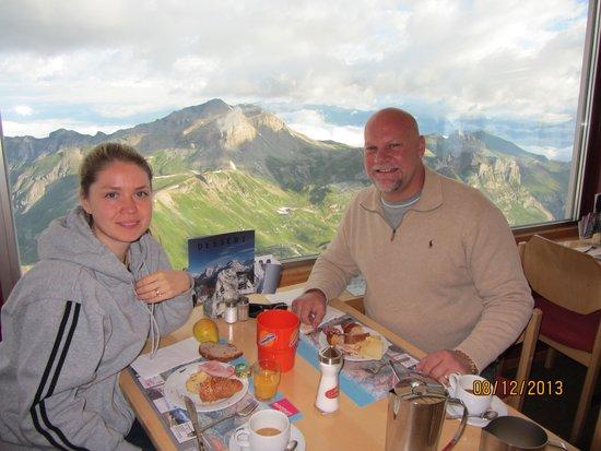 360° Restaurant Piz Gloria : view from turning top restaurant
