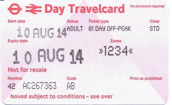 """London Underground: Empfehlenswert: """"peak-off"""" Tageskarte"""