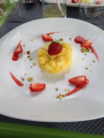 L'Auberge d'Arradon : Tartare d'ananas et fraises