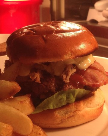 Upstairs @ Joe's: Our Homemade Burgers are awesome!!!