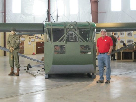 Iron Mountain, MI: WW II glider at the museum