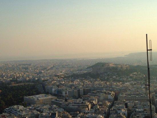 Mount Lycabettus : Vistas desde licabeto