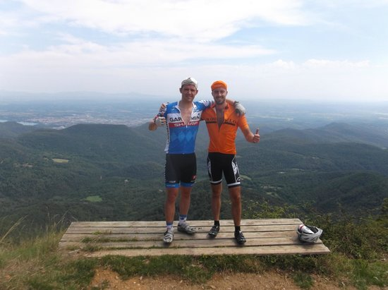 Bike Breaks Girona Day Tours: Made it after the gruelling ascent of Rocacorba in the midday heat.